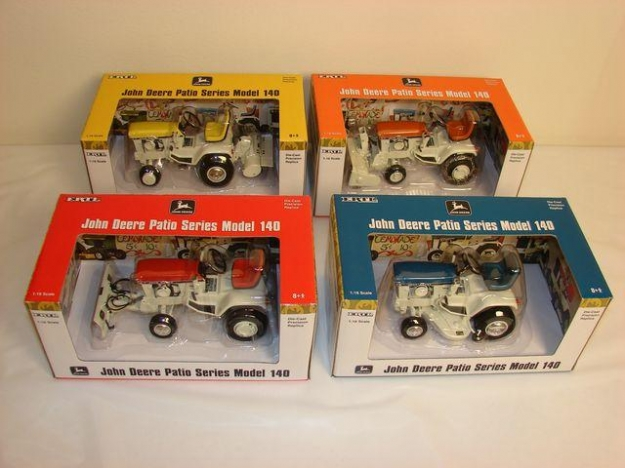 Ertl Precision John Deere 140 Patio Garden Tractor Set Of (4) Tractors,