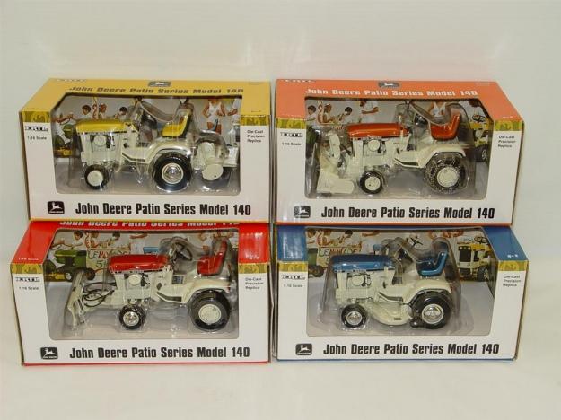 Ertl Precision John Deere 140 Patio Garden Tractor Set Of Four Tractors:  April Yellow W